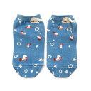プリント アンクルソックス スニーカー ソックス[ 国産 ・ 日本製 ]靴下:GKS-009