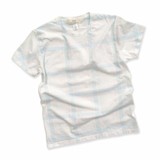 染め チェック柄 Tシャツ TS-602