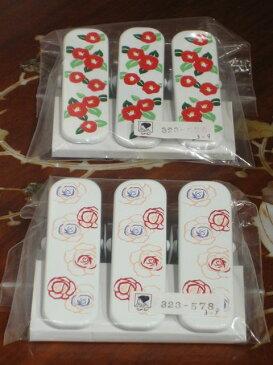 きものクリップ(大)三本セット 椿・バラ【つばき】【薔薇】【着付け用品】