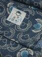 竺仙鑑製浴衣地 綿紬 ふくらすずめ文 藍(ジャパンブルー) すずめの柄に青色のボカシ有り【ちくせん】【ゆかた】【つむぎ】【反物】【福良雀】【夏祭り】【送料無料】【smtb-k】【ky】おすすめ