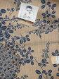 竺仙鑑製浴衣地 奥州小紋 菊詰雪輪に萩 薄茶に藍色【ちくせん】【ゆかた】【夏祭り】【送料無料】【smtb-k】【ky】