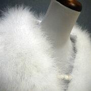成人式ショール羽毛フェザー振袖用ふわふわ売れ筋ストールふりそでファー白