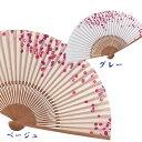 ◆母の日◆レディース紙扇子【京扇子 山二◆Kamisensu-小桜】-母の日 和柄 和装 和小物 着物 扇子 和...