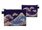祝!世界遺産登録★開運亭★ 綿100% 日本製★《富士山 角ポーチ》-和装 着物 ガーゼ タオル ハンカチ 和柄 和雑貨 -