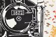 ≪梨園染≫ 手ぬぐい 蒸気機関車 【和雑貨】【ハンカチ】【日本製】【ご自宅用で6点までネコポス対応】