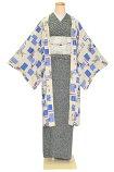 女性用長羽織フリーサイズ【洗える】【防寒】【着物コート】