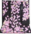 正絹 振袖24点フルセット(お仕立て付き) 黒地(ラメ入り) 花づくし(刺繍入り) 【購入】【フルオーダー】【単品に変更可】【送料無料】