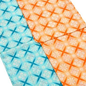 【トールサイズ】【新品】【送料無料】 レディース 浴衣 単品 大人可愛い 上質 綿100% 全2色 オレンジ 杏色 青 薄浅葱色 花文様 女性浴衣 TL (01-09-55)