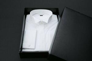 結婚式・ブライダル・【レンタル】【Yシャツ】【ダブルカフス】(小物まで付きます)【ワイシャツ】【ウィングシャツ】【ダブルカフス】【モーニング】【タキシード】【シャツのみ】【フォーマル】