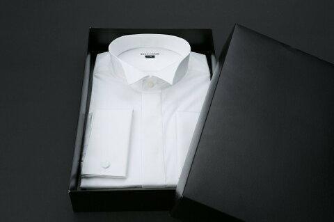 結婚式・ブライダル・販売用ワイシャツ【ウイングカラーダブルカフス】【ウイングカラー】【ダブルカフス】(小物まで付きます)【ワイシャツ】【ウィングカラーシャツ】【モーニング】【タキシード】【シャツ】【フォーマル】