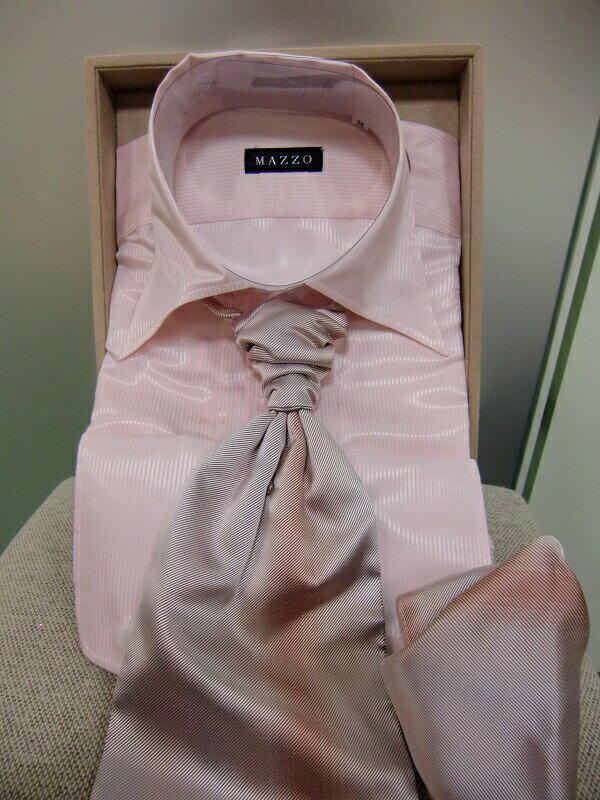 【クーポン】【レンタル】【カラーシャツ】【ピンク】【カラーシャツ】【ネクタイ スカーフ付】(タキシード用)【往復送料無料】【4泊5日レンタル】【ワイシャツレンタル】【ブライダル】【シャツのみレンタル】【ピンクのシャツ】