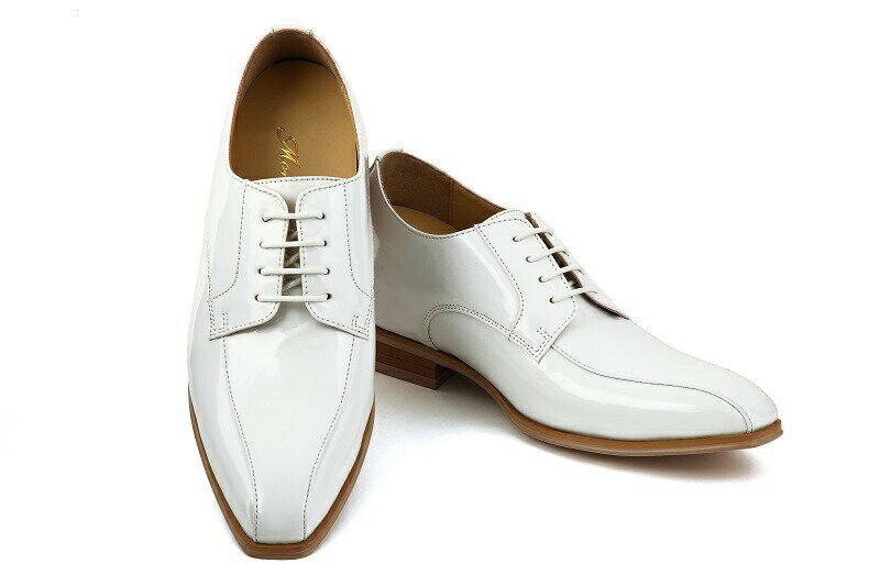 【クーポン】【レンタル】【タキシード】【ブライダルシューズ】【結婚式】【白い靴】【シークレットシューズ】【ホワイト】【往復送料無料】(メンズシューズ)【フォーマルシューズ】