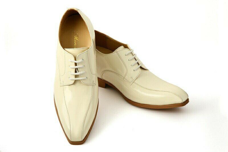 【クーポン】【レンタル】【靴レンタル】【オフホワイト】【シークレットシューズ】【エナメル】【タキシード】【ブライダルシューズ】【結婚式】【白い靴】【靴】【フォーマルシューズ】