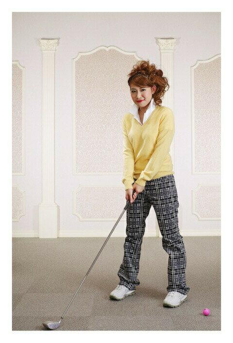 【レンタル】【ゴルフ】【ゴルフウェア】【レディース】【レディースゴルフウェア】【コンペ】【往復送料無料】ゴルフウェアレンタル ポロシャツ カシミヤセーター ズボン