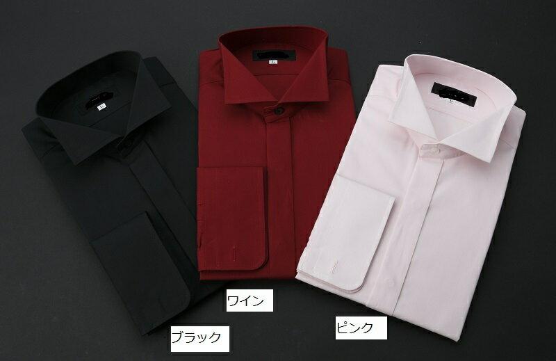 【レンタル】【ウイングカラーシャツ】【紺】【ワイン】【黒】【ピンク】【タキシード シャツ】【ワイシャツ】【ウィングシャツ】【タキシード】【シャツのみ】【フォーマル】新郎 小物 セット【S.M.L.LL.3L.4L.5L】【青のシャツ】【ウイングカラー紺】