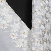刺繍半襟白振袖用訪問着用成人式卒業式桜楓文(白金刺繍)半衿婚礼衣装用礼装用「衿秀」刺繍半衿洗えるポリエステルししゅう半衿