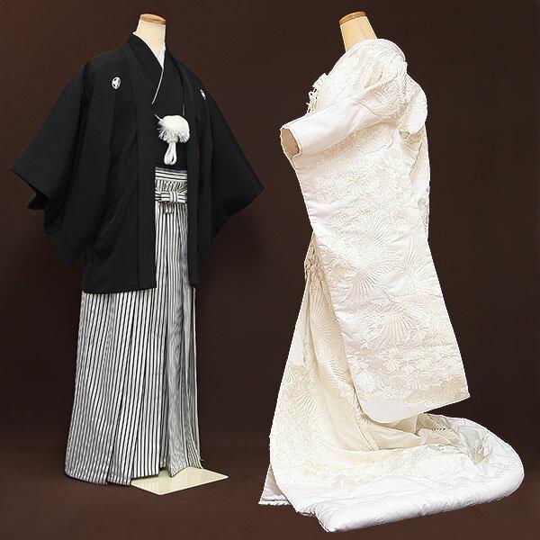 【レンタル】【白無垢・紋付フルセット】白無垢|レンタル|結婚式|レンタル着物|フルセット|和装|貸衣装|紋付袴|花嫁衣装|和服|和婚|新郎|新婦|衣装レンタル|ブライダル|神前式|神社|安い|往復送料無料