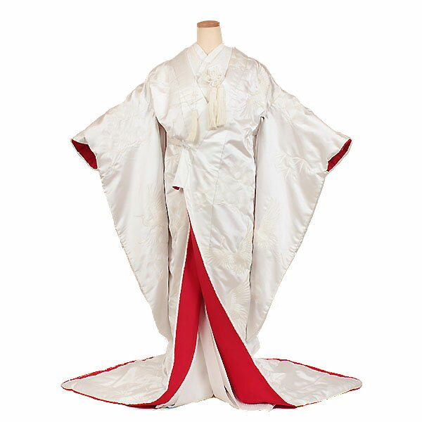 【レンタル】【試着・白無垢〔裏赤仕立て白無垢〕】白無垢|レンタル|結婚式|レンタル着物|フルセット|和装|貸衣装|紋付袴|花嫁衣装|和服|和婚|新郎|新婦|衣装レンタル|ブライダル|神前式|神社|安い|往復送料無料