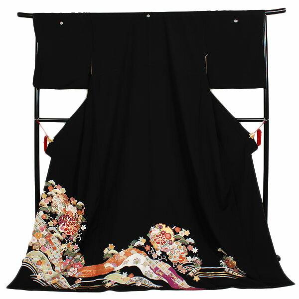 【レンタル】【黒留袖・広幅・4L】留袖|黒留袖|着物|レンタル|結婚式|披露宴|貸衣装|貸衣裳|フルセット|女性和服|和服|母親|祖母|親族|チャペル|安い|往復送料無料