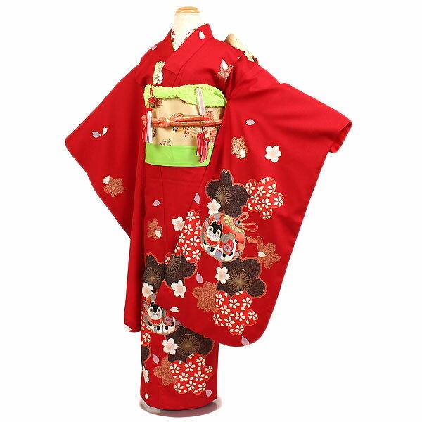 【レンタル】七五三・7才女児着物・赤地|四つ身|7歳着物|753|七五三|7歳 女の子|子供|安い|往復送料無料