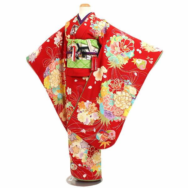 【レンタル】【七五三レンタル・7才女児着物『CIAOPANIC TYPY』赤色地】チャオパニックティピー|ブランド|四つ身|7歳着物|753|七五三|7歳|女の子|子供|安い|往復送料無料