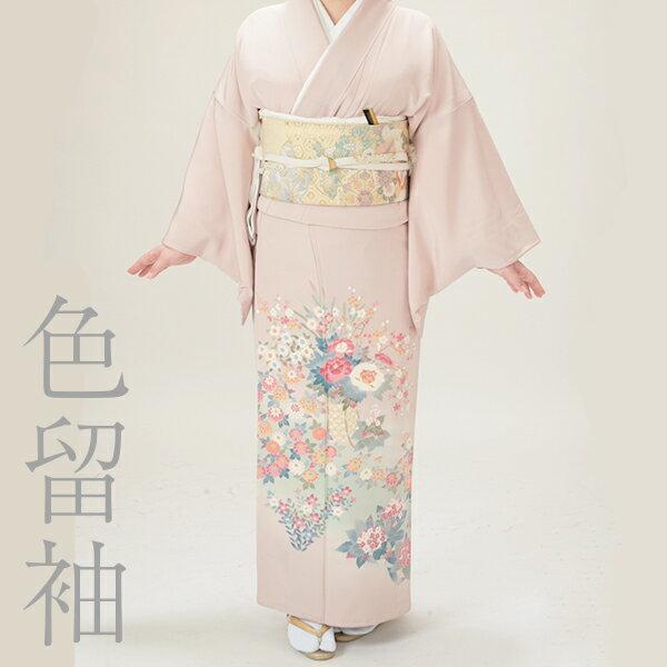 【日本全国 送料無料】色留袖レンタル18点フルセット・花かご 足袋プレゼント 着物レンタル 貸衣装 女性和服 留袖 とめそで 正絹 訪問着 結婚式