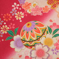 女児産着(祝着)・ピンク/花と鞠【着物レンタル】【祝着】【お宮参り】【産着】【着物】