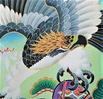 女児産着(祝着)・青/鷲と宝船【着物レンタル】【祝着】【お宮参り】【産着】【着物】