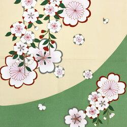 風呂敷二巾(68cm×68cm)丹後ちりめん日本製おしゃれふろしきfuroshiki染分け枝垂れかわいいさくら桜花柄和柄和装和装小物着物きものkimono送料無料