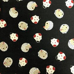 風呂敷おしゃれふろしき日本製三巾105cm×105cmおかめひょっとこ和風和柄黒雑貨和雑貨プレゼントギフト和装和服着物レトロきものモダンfuroshiki