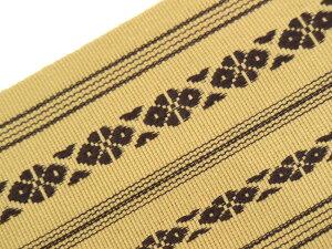 【バックルタイプ帯ベルトMO-41】ベージュ色献上柄MサイズLサイズLLサイズ着物ベルト角帯創作帯作り帯綿帯
