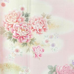 訪問着 レンタル セット 【H189】 ピンクぼかし 牡丹と菊と花々フルセット レンタル 訪問…