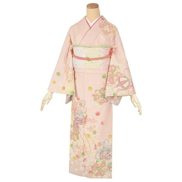【レンタル】【訪問着 レンタル】 「H826 ピンク 毬に桜と花の丸 」 訪問着レンタル【結婚式】【七五三】【入学式】【卒業式】【お宮参り】【パーティー】訪問着レンタルフルセット ホテル・式場への配送OK!