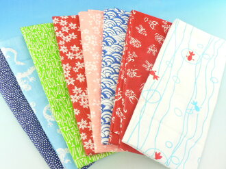 Even when ごふく and limited new pattern appeared 8柄 Edo pattern hand towel wash cloth towel handy