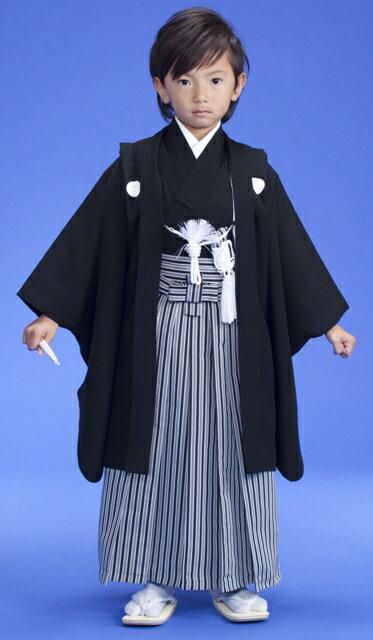 七五三正絹黒紋付 正絹袴 紋入れ込み五歳 男児フルセットこれで七五三は大丈夫セット激安セール開催中