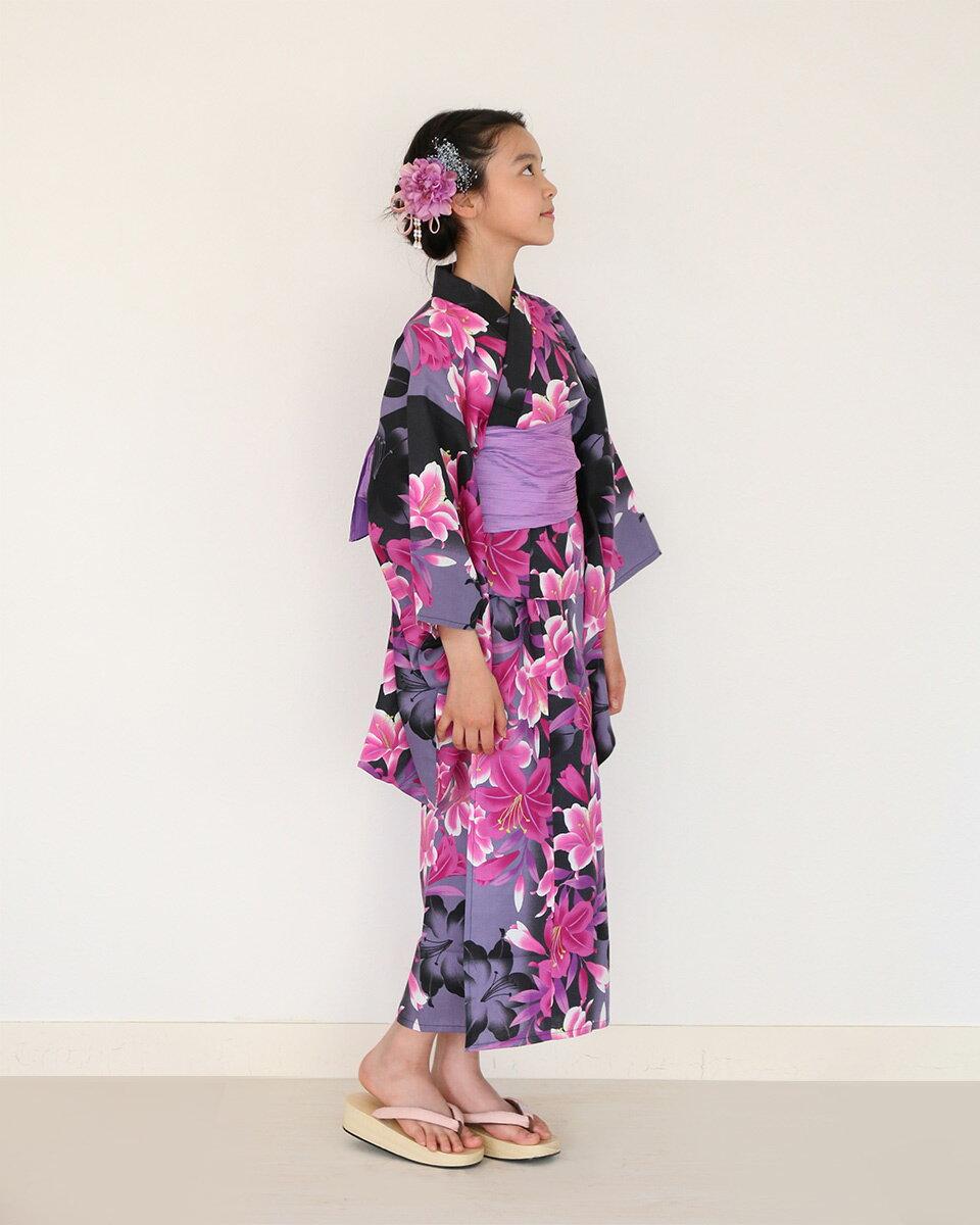 KimonoCafe(キモノカフェ)『ハイジュニア女の子浴衣帯2点セット』