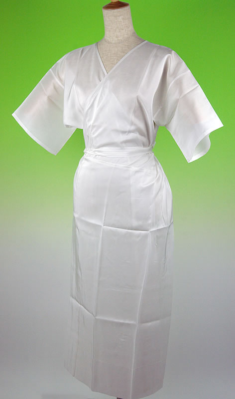 お家で洗える正絹シルク100%着物用スリップワンピースタイプ 白 M L メール便可 あす楽