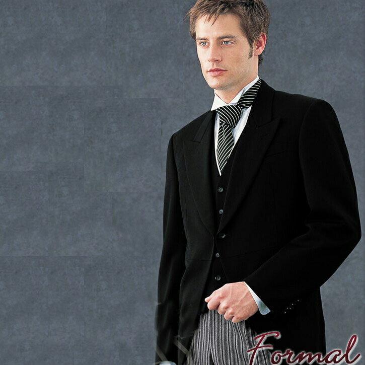 【レンタル】 メンズモーニングフルセット燕尾服 新郎の父 結婚式 紳士用 メンズ用 正装 ドレスコード 往復送料無料 re-mens-0001
