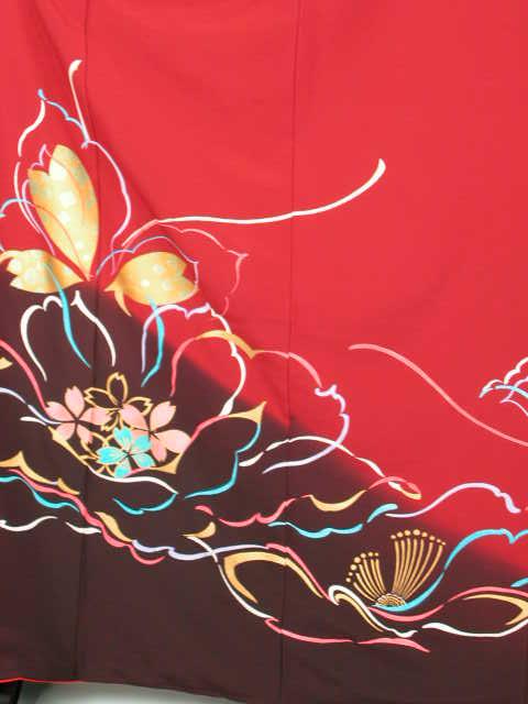 【レンタル】謝恩会成人式和装 披露宴結納 結婚式パーティー きもの振袖 着物貸衣裳 貸衣装 往復 送料無料レンタル トールサイズKF143華セット