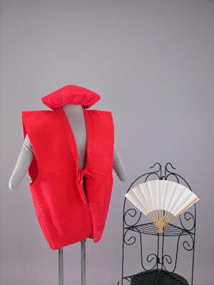 還暦レンタル60歳赤色綿入れちゃんちゃんこ・頭巾・センス3点セットレンタル3