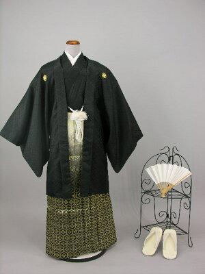 男紋付きもの羽織袴セットレンタル黒B1