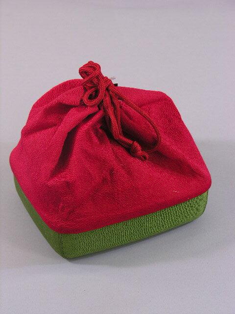 レンタル商品の販売訳有り巾着篭付き緑・赤セール