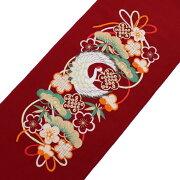 半衿刺繍半襟はんえり振袖袴成人式卒業式結婚式鶴松竹梅赤シルエリー