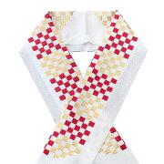 半衿刺繍半襟はんえり振袖袴成人式卒業式結婚式白市松赤金