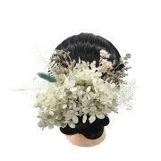 髪飾り成人式花浴衣和装結婚式つまみ細工卒業式着物振袖袴ちりめん日本製ヘッドドレス赤紫白アイボリー