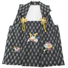 正絹被布コート七五三3歳白梅花子供被布かわいい女の子女児単品身丈48cm着物和装