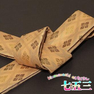 To the Kaku Obi sash shichigosan kimono and hakama! Kids-boys-boys for 5-year-old 5-year-old fs3gm gold tea hanabishi, [R]
