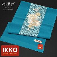 帯揚げ IKKOブランド「ブルー 青海大花刺繍帯揚げ」
