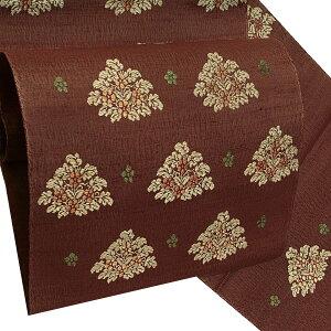 手織真綿紬 袋帯 未仕立て 洒