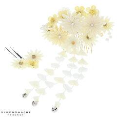 髪飾り2点セット「ホワイト 白